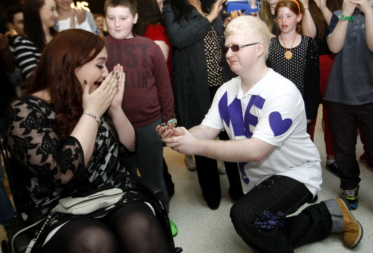Dancing engagement proposal takes over intu Watford - but does she say yes?
