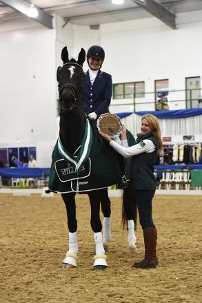 Sarratt dressage rider Daisy Coakley won a national title at the Winter Dressage Championships.