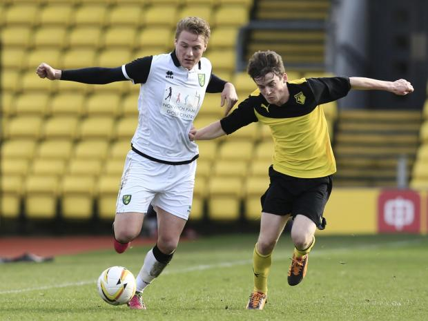 Alfie Young got Watford Under-18's winner against Southend in their final fixture of the season. Picture: Action Images