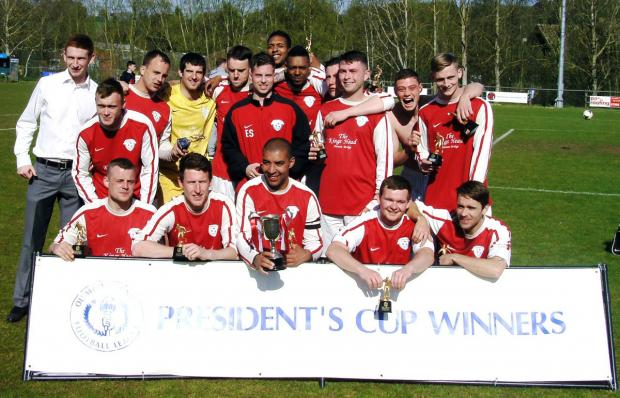 Successful defence: President's Cup winners Headstone Athletic.