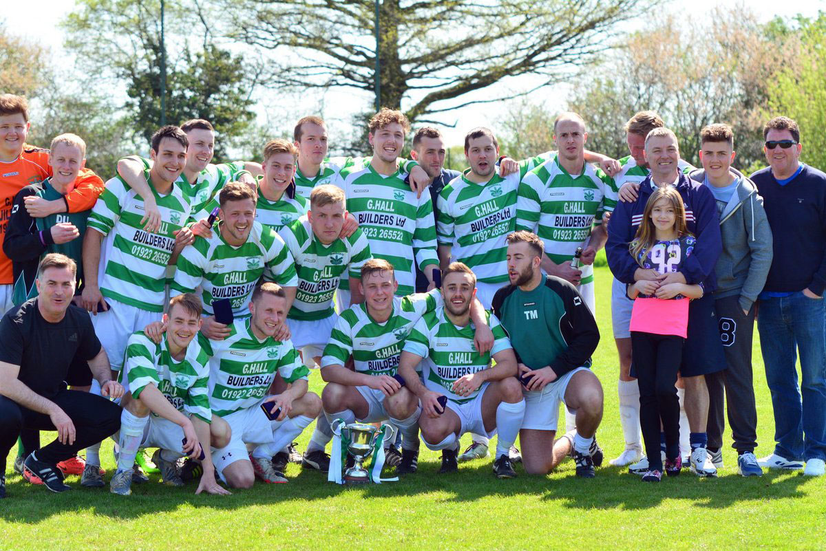 Triumphant: Intermediate Cup winners Evergreen.