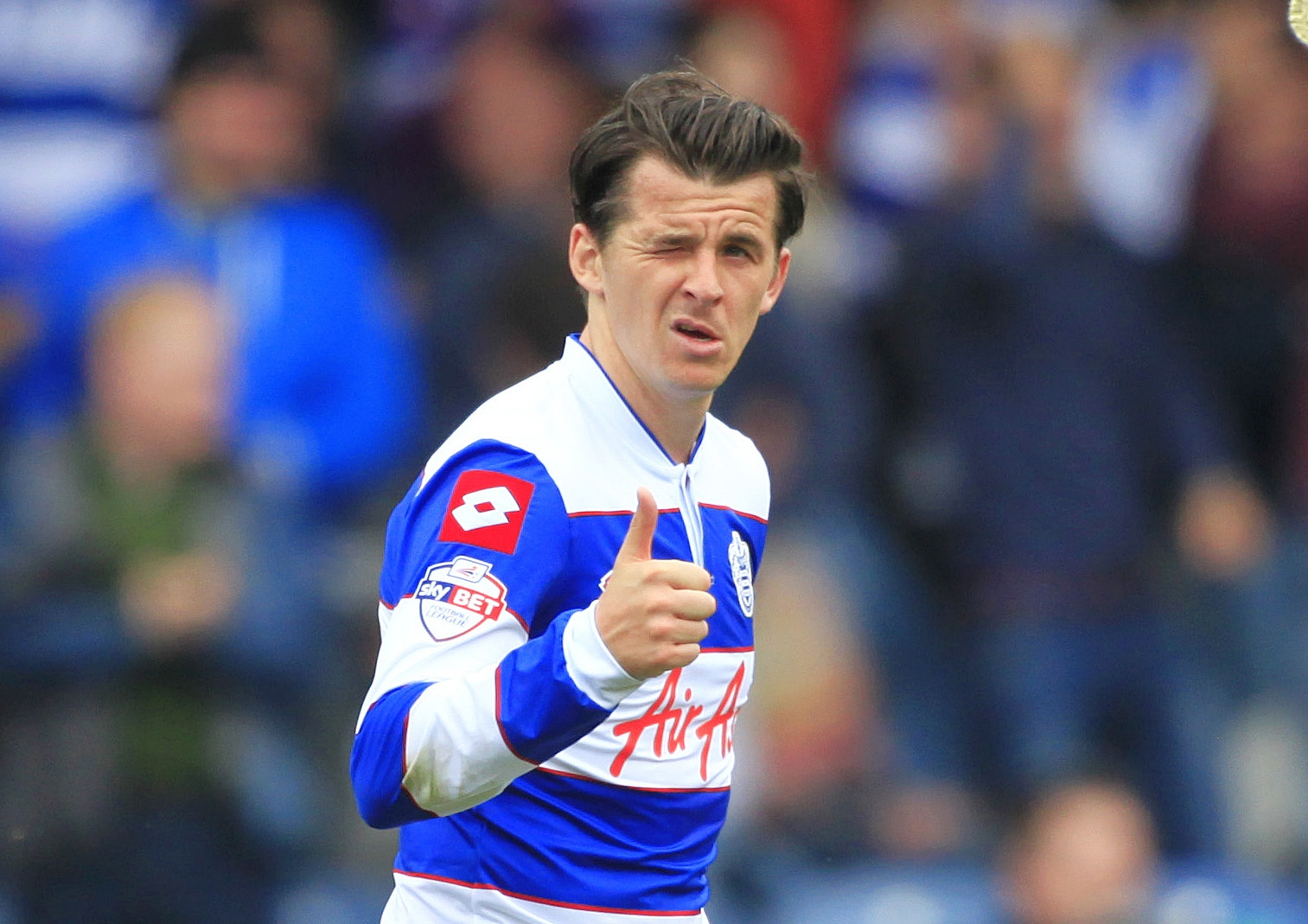 Joey Barton celebrates his equaliser for QPR. Picture: Action Images