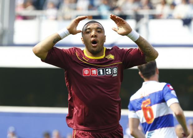 Troy Deeney in action against QPR on Monday. Picture: Action Images