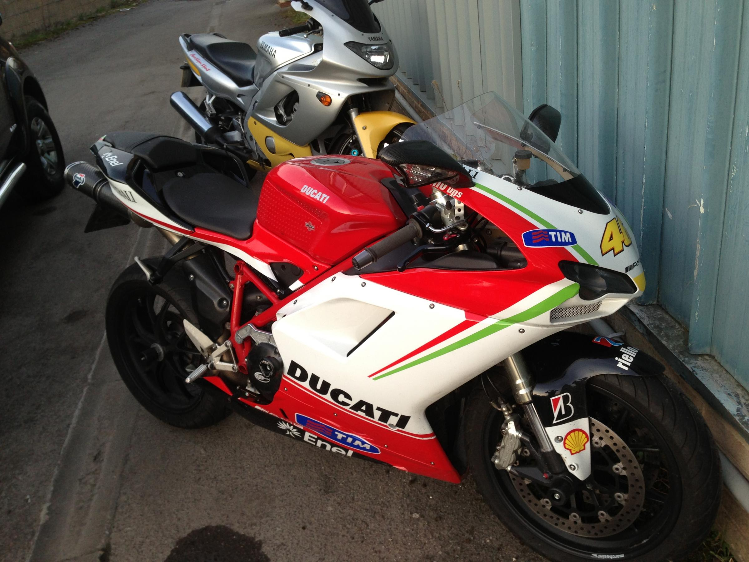 Pictures of 'distinctive' stolen motorbike released