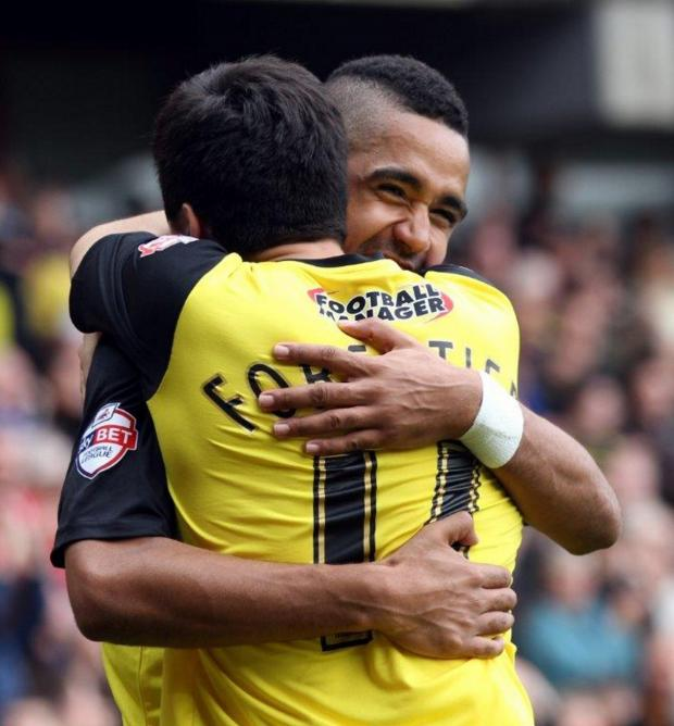 Watford Observer: Fernando Forestieri and Lewis McGugan are both ruled out of Saturday's game. Picture: Dave Peters