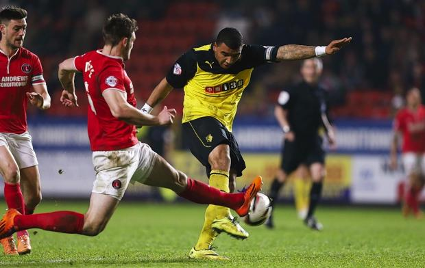 Troy Deeney netted a superb goal at Charlton on Tuesday: Action Images