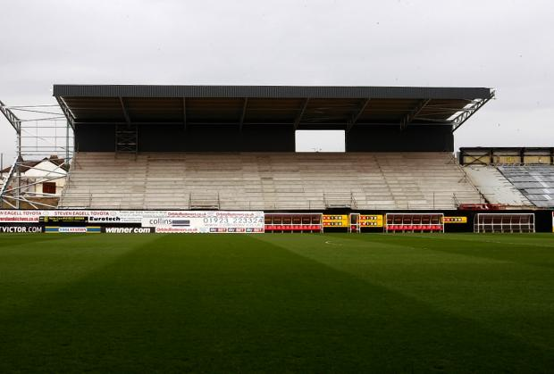 Picture of the East Stand taken last week. Picture: Holly Cant