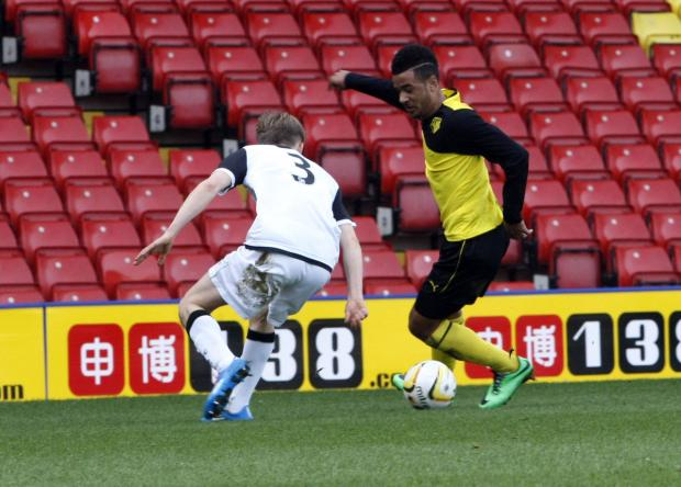 Alex Jakubiak in action in the FA Youth Cup win over then holders Norwich City earlier this year. Picture: Holly Cant