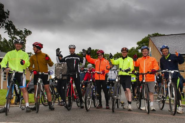 Dozens turn out for Michael Sobell Hospice charity cycle ride