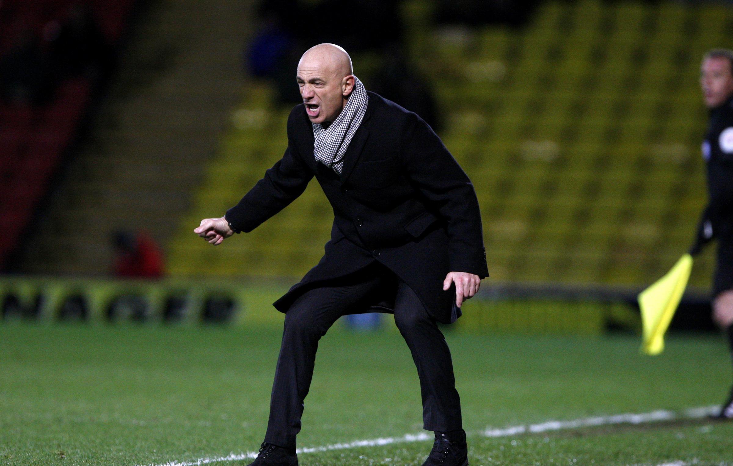 Watford Observer: Sannino animated on the touchline