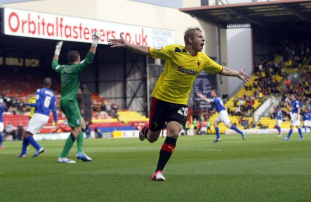 Can Watford get the best out of Matej Vydra in a 4-3-3 formation? Picture: Holly Cant