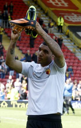 Hot shot: Troy Deeney was the equal third highest scorer in the Football League last season. Picture: Holly Cant