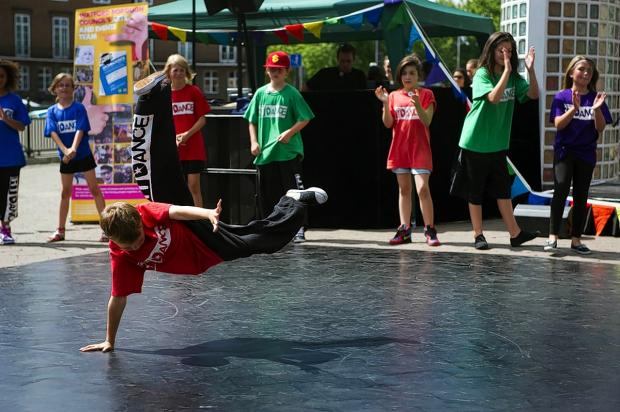 Street dancing at the Watford Live! festival