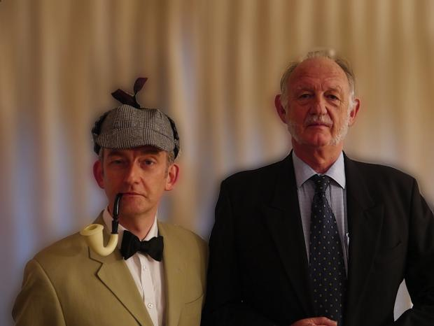 Robert Peacock and Roddy Shand as Sherlock Holmes and Dr Watson