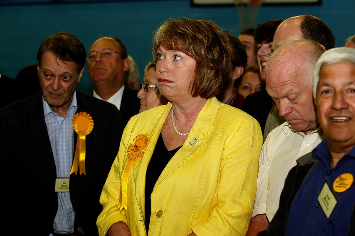 Dorothy Thornhill awaiting the results at last week's mayoral election.