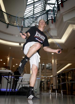 Romeo Romaeo during a skipping exhibition in Watford. Picture: Holly Cant