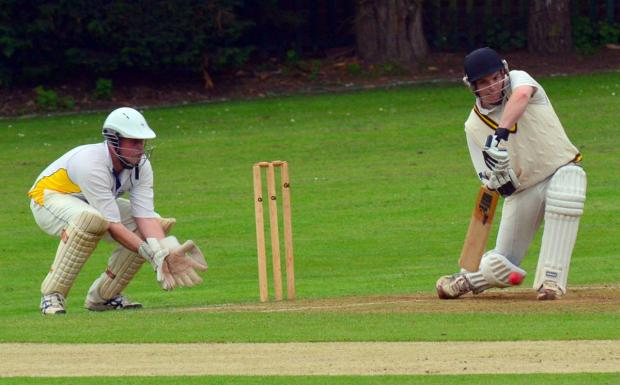 Quarter-finalists Langleybury, batting, in action against Flitwick on Saturday. Picture: Len Kerswill