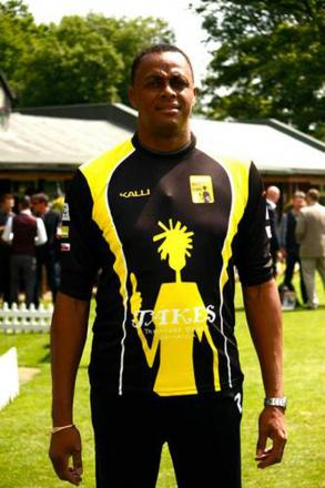 West Indies great and Lashings bowler Courtney Walsh.