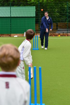 Students bowled over by inspirational cricketer visit