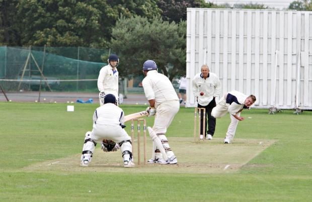 Met Police Bushey (bowling) in action against Chipperfield Clarendon. Picture: Pippa Douglas