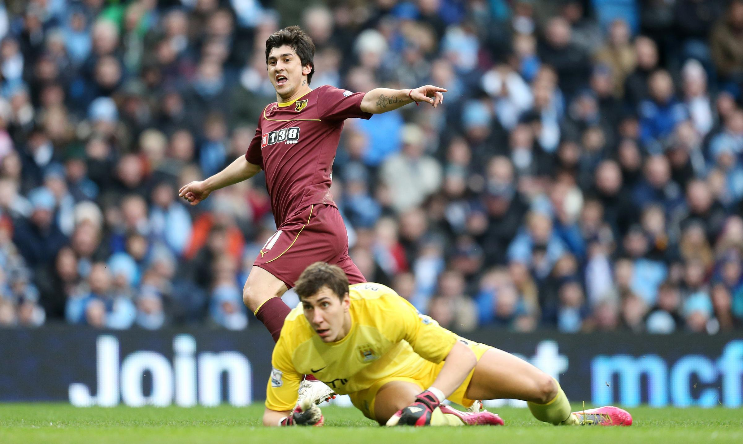Scoring at the Etihad Stadium was the highlight of Fernando Forestieri's season. Picture: Action Images