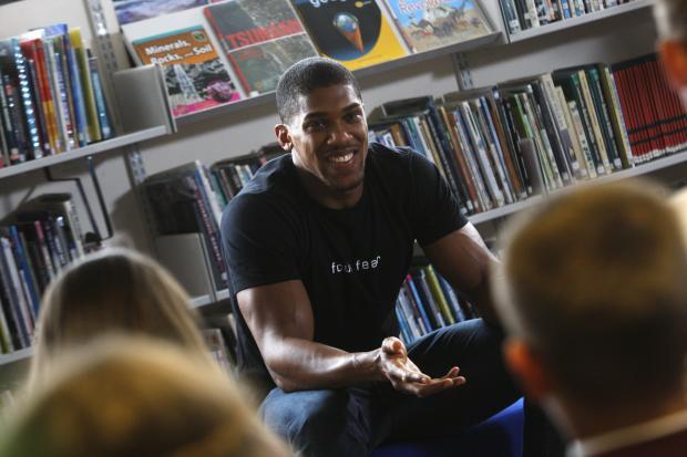 'Make the most of your time here' - Watford boxer Anthony Joshua speaks to students at Kings Langley school