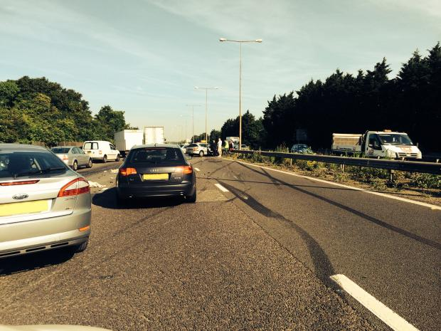 Two people taken to hospital 'as precaution' following M1 crash