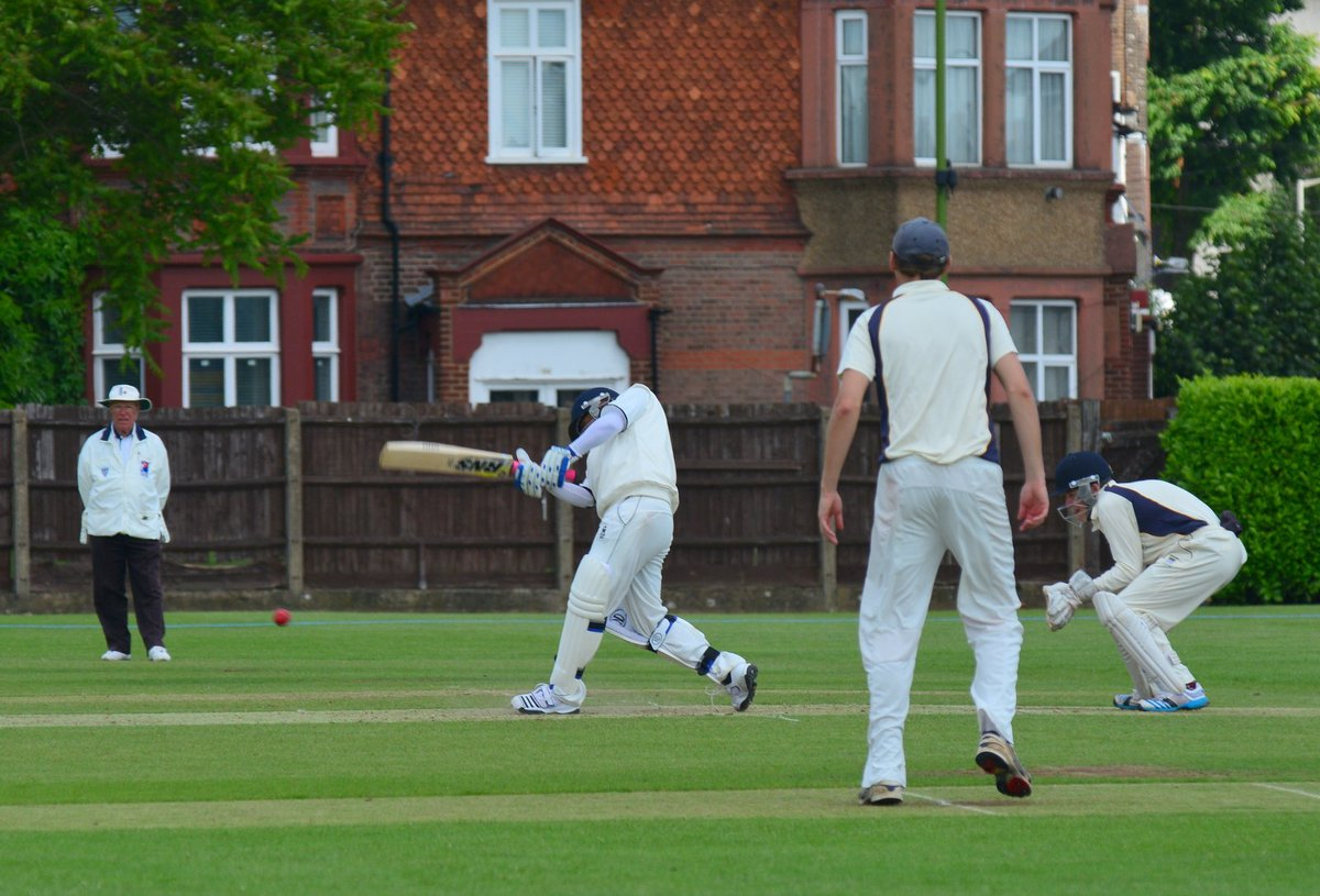 West Herts, batting, look to go on the attack in their Championship victory over Knebworth Park on Saturday. Picture: Len Kerswill