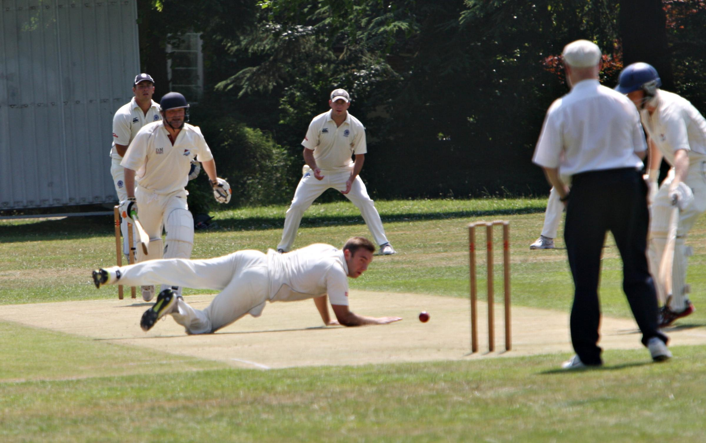 Kings Langley (fielding) take on Northwood. Picture: Pippa Douglas