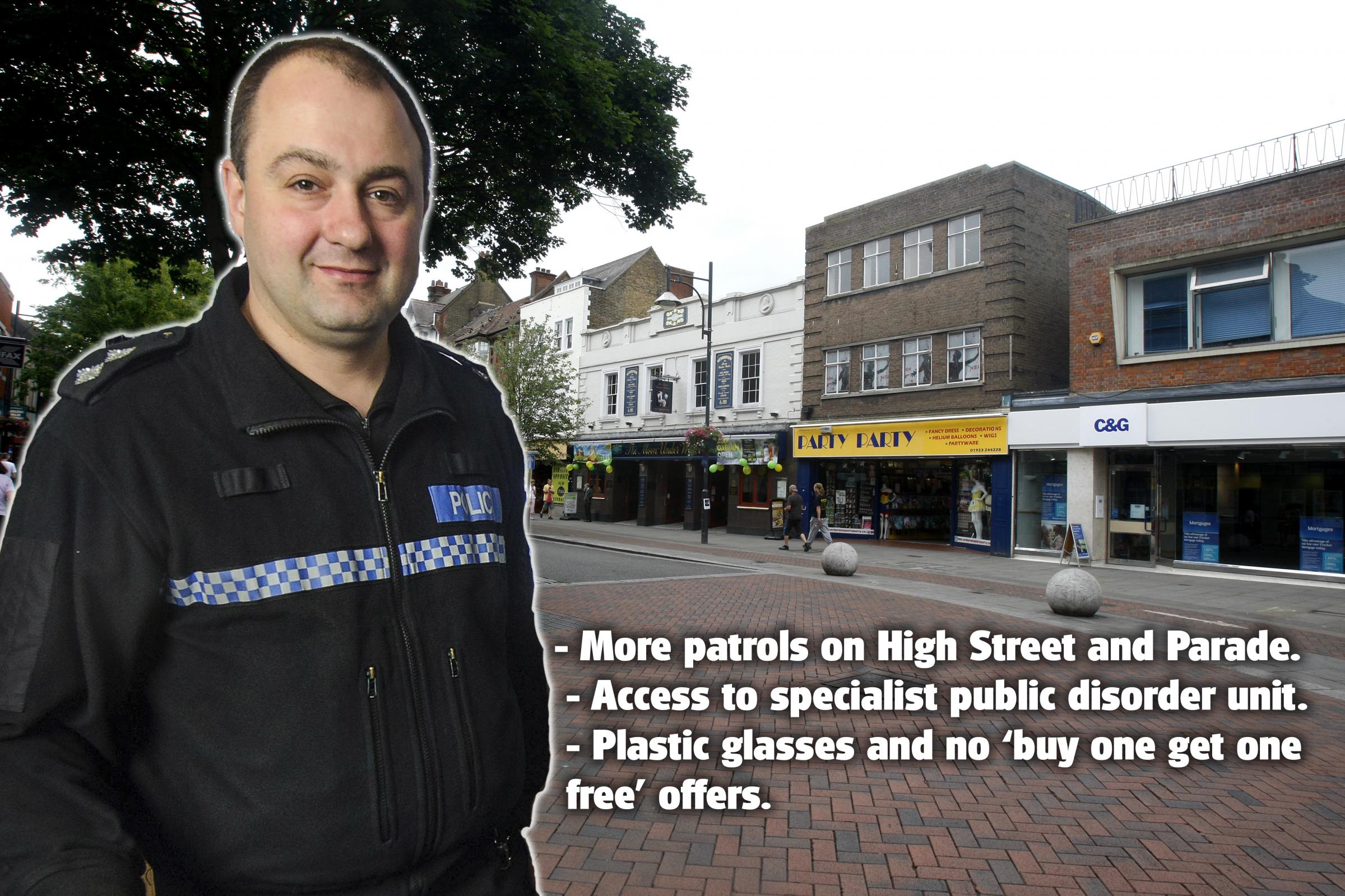 Extra police in Watford town centre during World Cup