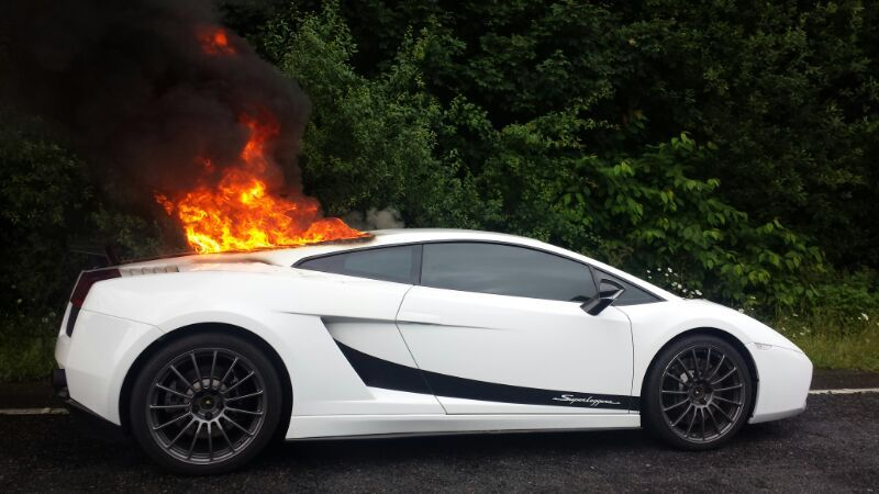 Lamborghini fire causes delays on A41 near Kings Langley