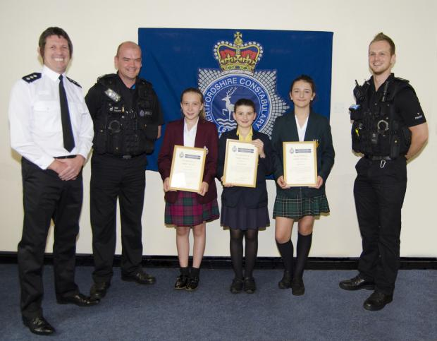 Chief Inspector Dave Wheatley, Intervention Sergeant Simon Cooper, Daisy Taylor, Helena Gordon, Scarlett Smith and Intervention PC, Chris Simmons.