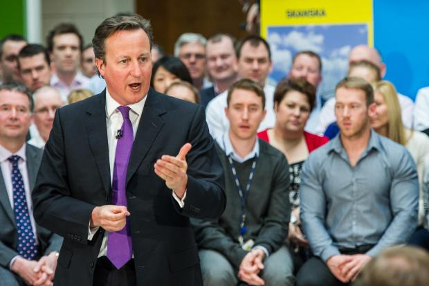 Watford Observer: Picture of David Cameron from stock