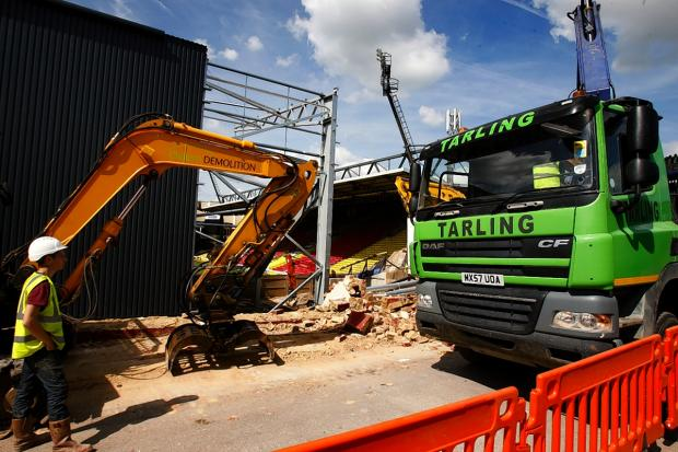 Watford Observer: Picture of the demolition work at Vicarage Road, taken last week by Holly Cant.