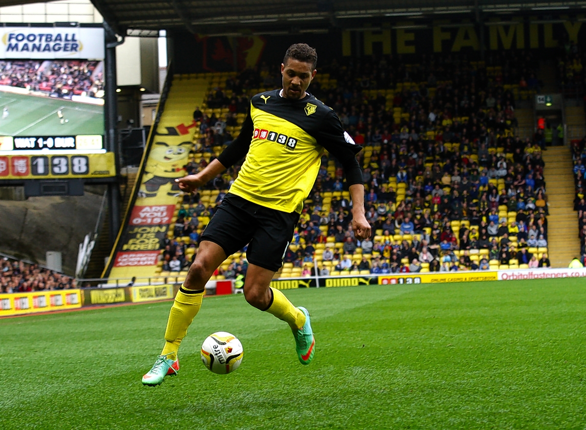 Mathias Ranegie during last season's game with Burnley. Picture: Holly Cant