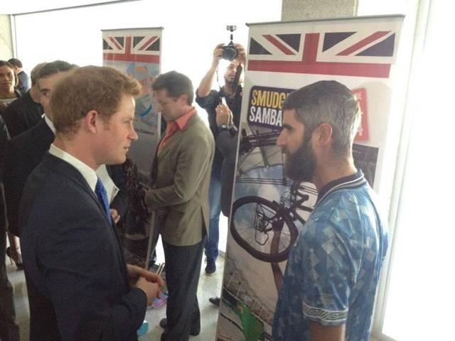 Watford fundraiser in Brazil meets Prince Harry at royal reception