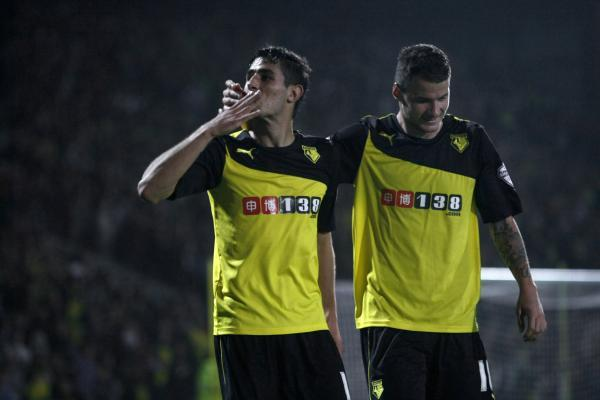 Faraoni (right) has left Watford and joined Udinese. Picture: Holly Cant