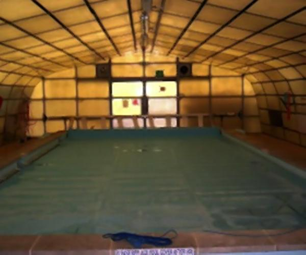 The school's current pool.