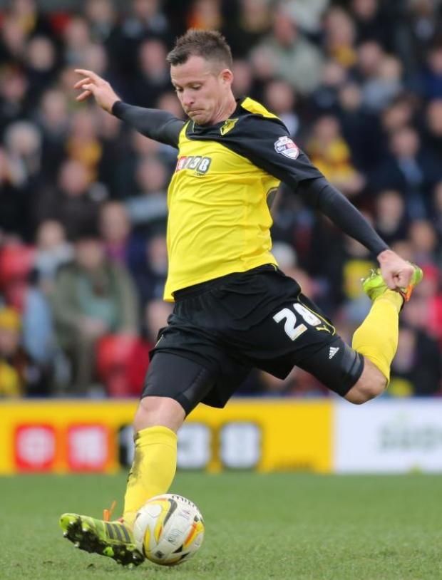 Watford Observer: Daniel Tozser made his first Watford appearances since rejoining the Hornets on loan this week. Picture: Action Images
