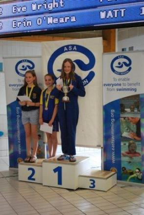 O'Meara shines for Watford Swimming Club at East Region Championships