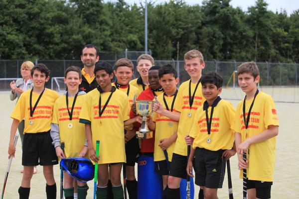 The winning Watford District boys hockey team.