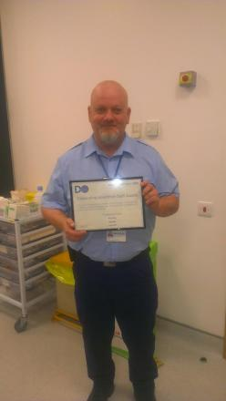 Hospital porter wins NHS trust award for excellence