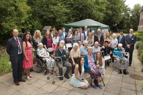 Young people from Watford win award for befriending elderly care home residents