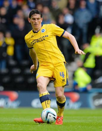 Keith Andrews during his loan spell at Brighton & Hove Albion. Picture: Action Images