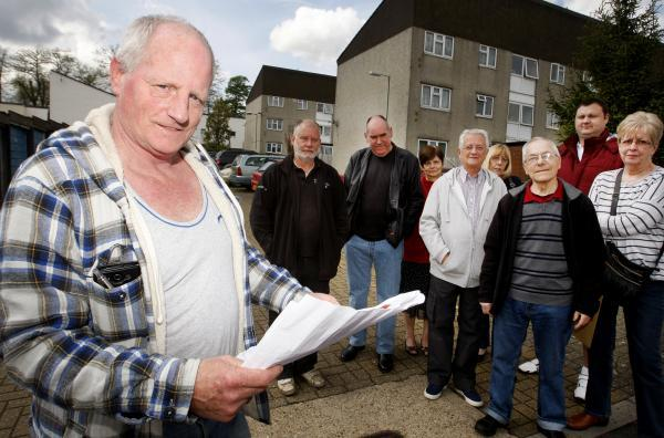 Mick Fox and residents are against the plans