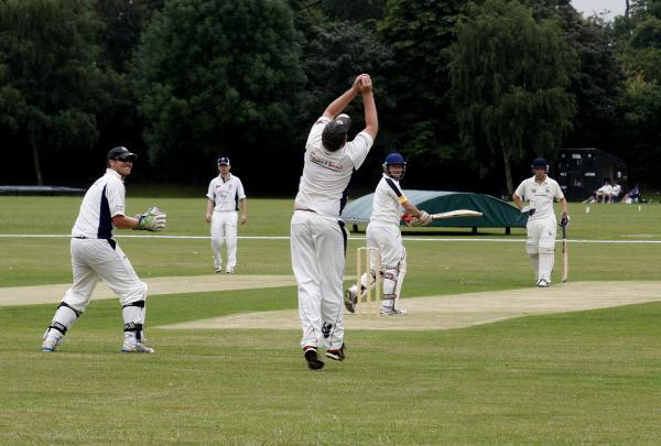 A Met Police fielder takes a catch against Radlett Seconds. Picture: Holly Cant