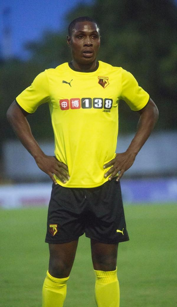 Odion Ighalo had his first run-out for Watford last night. Picture: Peter Beal