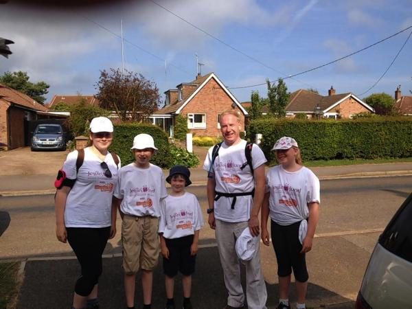 Teenager completes 130 mile walk for charity