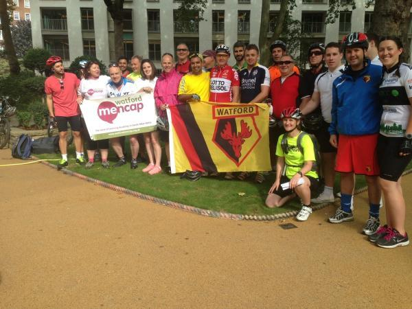 Watford FC Community Trust and Watford Mencap Team complete 145-mile super cycle from London to Amsterdam