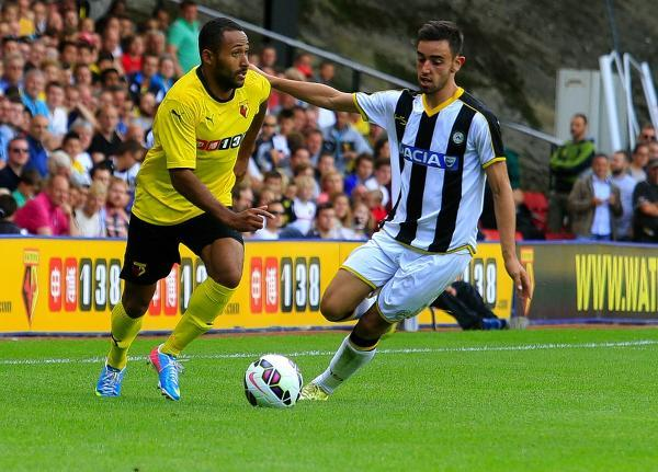 Ikechi Anya has not played for Watford since the pre-season friendly with Udinese. Picture: Holly Cant